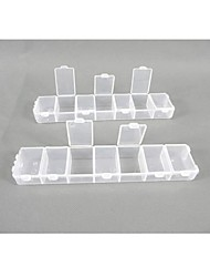 Plastic 14 Compartments Transparent  Storage Case