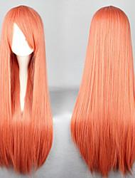 Universalité cosplay synthétique longue perruque orange