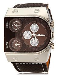 Heren Rabbit Shape rechthoek Dial pu band quartz analoog Fashion Watch