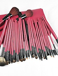30PCS Pro Red&Black Deluxe Mineral Make Up Brush&Bag Set