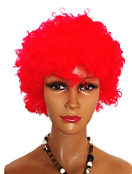 Black Afro Wig Fans Bulkness Cosplay Christmas Halloween Wig Red Wig 1pc/lot