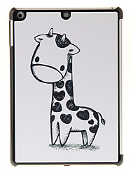 Black-and-white Giraffe Pattern PC Hard Case for iPad Air