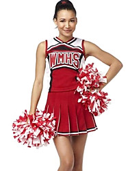 Classic Style Red Polyester 2014 Brazil World Cup Football Baby Sexy Girls Cheerleader Uniform