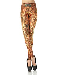 Elonbo Women's  Digital Printing Coloured Drawing or Pattern Gorgeous Palaces Style Tight Leggings