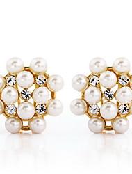 Mingluan Pearl Gold Earrings 801020040