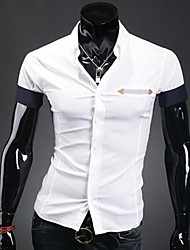 Men's Striped Pocket Casual Short Sleeve Shirt