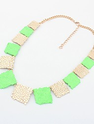 Shadela Square Green Fashion Necklace CX141