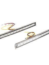 2 * Universal White 12 SMD 5050 LED Daytime Running Light Car Day Driving Fog DRL Lamp