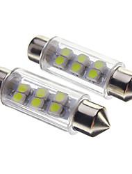 Feston 0.5W 30-40lm 6 Led Ampoules Auto-Blanc (12V)