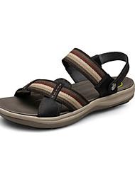 Chaussures Hommes - Décontracté - Noir / Marron - Cuir - Sandales