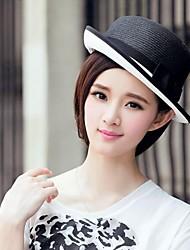 Délicates paille dames en plein air / Chapeaux causalité avec bowknot