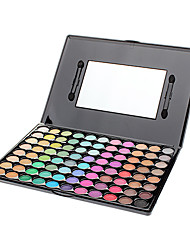 88 Lidschattenpalette Trocken / Schimmer / Mineral Lidschatten-Palette Puder Groß Party Make-up / Smokey Makeup