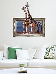 3D Die Giraffe Wandaufkleber Wandaufkleber