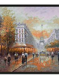 Pintura de Paisagem Torre Eiffel Oil emoldurado