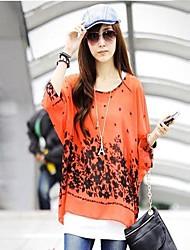 Mulheres de Nice Dolman Sleeve Chiffon Blusa