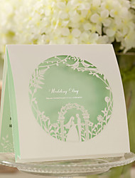Green Top Fold Wedding Invitation -Set Of 50/20
