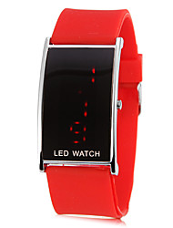 Women's Red LED Digital Silicone Band Wrist Watch (Assorted Colors)