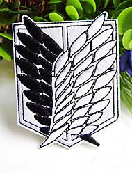"""ataque a Titan """"asas da liberdade"""" patch bordado emblema preto e branco"""