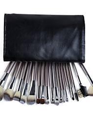 18PCS Professional High Quality Makeup Brush Set with Champagne Handle