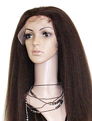 18 Inch brasileiro Virgem Cabelo º 4 Cor Kinky em linha reta cabelo humano direto Lace Front Wigs em stock
