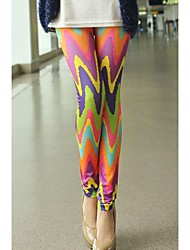 Women's Candy Color Wavy Tie Dye High Quality Leggings