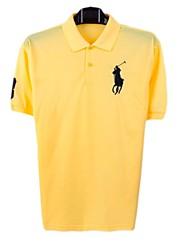 Herren Round Kragen Kurzarm-Polo-T-Shirt