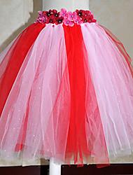 Kids' Dancewear Tutu Ballet Flower Multi-color Tulle Dance & Party Dress Kids Dance Costumes