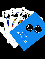 Personalized Gift Blue Dice Pattern Playing Card for Poker
