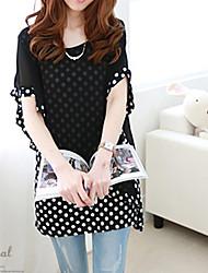 Women's Polka Dots Like Short Sleeve  Blouse