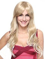 Fashion  Synthetic Wavy Blonde Hair   wig