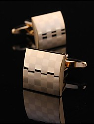 XINCLUBNA® Men's Fashionable Gold Copper Cufflink (Gold, 1.5cm)(1pair)