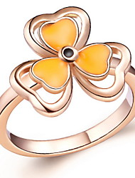 Stilvolle Splitter-oder Gold mit Orange Flower Ring der Frauen (1 PC)