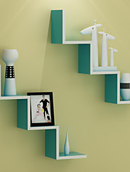 Postmodern Classic Minimalism Solid W Shaped Wall Mounted Storage Shelf