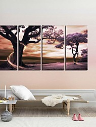 Stretched Canvas Art  The Tree of Fantasy Set of 4
