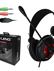 Dynamic Stereo Headphones with Mic  and Volume Control Powerful Bass with Retail Package