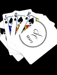 Jouer Blanc Cadeau style de signature de cartes de vœux