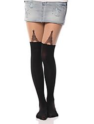 Women's Tower Pattern Pantyhose