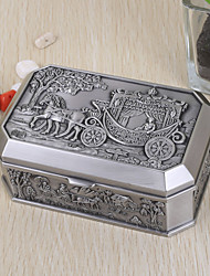 """The Cruise"" Vintage Embossed Tutania Jewelry Box"