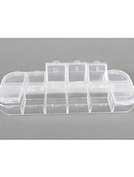 Plastic 12 Compartments Transparent  Storage Case