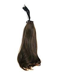 Brown Long Wavy Synthetic Ribbon Tied Ponytail Hair Extensions