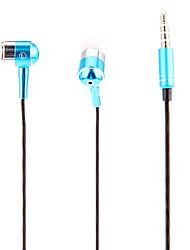 J903 3,5 mm Stilvolle Zipper In-Ear-Kopfhörer mit Mikrofon (blau)