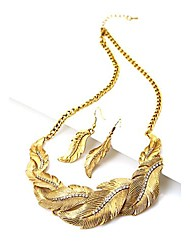 Women's Restore Exaggerated Earrings Suit Necklaces New Leaves
