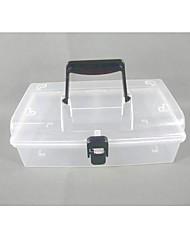 Mallette de rangement en plastique transparent avec transport