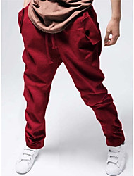 Uomo Casual Sport Allentare Hip-Hop Style cotone pantaloni lunghi