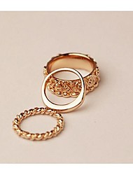 Hollywood loved Rose triad Knuckle Ring Set 3pcs/set