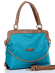 Erlen Women's European Style Contrast Color Simple Chain Tote/One Shoulder/Crossbody Bag(Sreen Color)