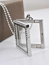 Fashion Square CZ алмазов из нержавеющей стали 316L может поставить декоративный кулон ожерелье