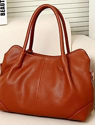 BABEINI  Women's Europe Fashion Elegant Leather One Shoulder Crossbody Tote(Brown)