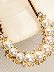 MISS U Women's Vintage Pearl And Crystal Necklace