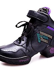 Cuero suave de las mujeres del Rhinestone Gimnasio Zapatillas Zapatos de baile más colores